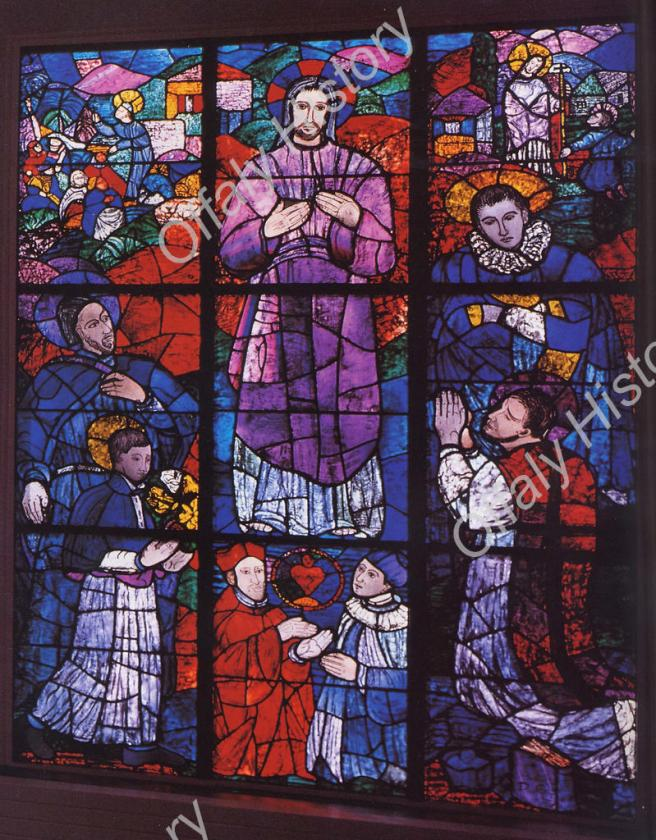 023 Stained glass window of the Saints (Evie Hone 1894-1955)